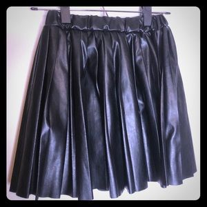 Dresses & Skirts - Faux Leather Pleated Skirt